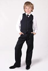 Детские темно-синие брюки Stenser Б85