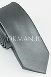 Узкий галстук серебристого цвета