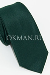 Узкий темно-зеленого цвета галстук