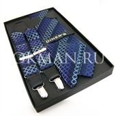 """Подтяжки галстук платок для взрослых """"DINERS"""" 0151"""