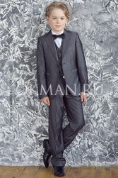 Детский пиджак серого цвета Stenser П09