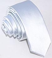 Узкий белый галстук