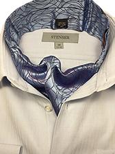 Мужской аскот (шейный платок) шелковый