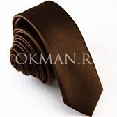Узкий галстук темно-коричневого цвета