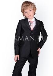 Детский черный пиджак от костюма Kaizer 17 с браком