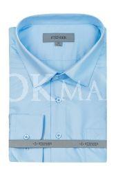 Голубая рубашка с длинным рукавом Stenser C3014