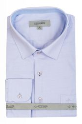Рубашка мужская Stenser C3019 (сиреневая)