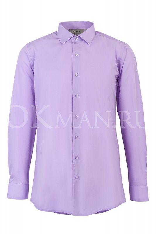 5fa1745b563986f Рубашка мужская сиреневого цвета Stenser с длинным рукавом - Мужские ...
