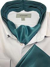 Аскот (мужской шейный платок) и паше бирюзового цвета