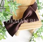 Маленькая коричневая бабочка - галстук для мальчика