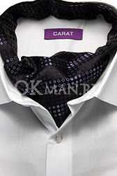 Галстук Аскот (мужской шейный платок) фиолетового цвета