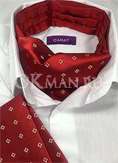 Аскот (мужской шейный платок) и паше темно-красного цвета