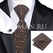 Подарочный набор (галстук, платок и запонки)