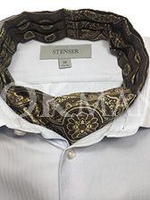 """Аскот (мужской шейный платок) коричневого цвета с орнаментом """"Арабеска"""""""