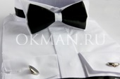 Белая рубашка под бабочку или смокинг Piero Lusso