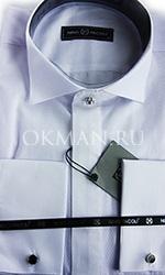Приталенная рубашка под бабочку фактурная с запонками Nino Pacoli