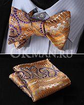 Желтая бабочка-самовяз в стиле Арабеска и платок