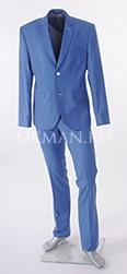 Мужской классический костюм голубого цвета К5143