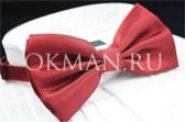 Бордовая бабочка-галстук