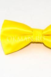 Желтая мужская бабочка-галстук