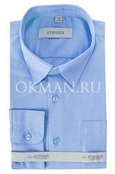 Детская, подростковая сиреневая, однотонная рубашка для мальчика Stenser С1003