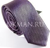 """Мужской галстук темно-фиолетового цвета с имитацией """"перелива"""""""