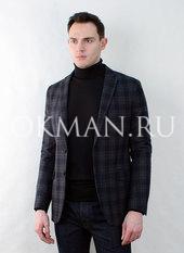 Приталенный клетчатый мужской пиджак Timothy Делон-1