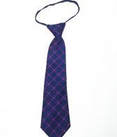 Детский галстук сиреневого цвета