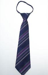 Детский галстук темно-синий в полоску