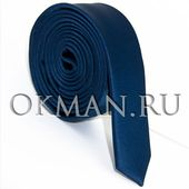 Узкий синий галстук George Lee 3 см