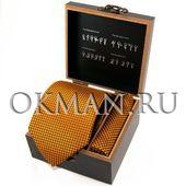 """Подарочный набор Галстук с платком """"Benini"""" Микрофибра 0865"""