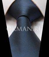 Синий классический галстук
