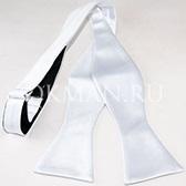 Белая мужская бабочка-галстук