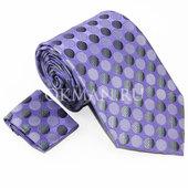 Комплект фиолетового цвета: Галстук, Платок Mario Laube 0242