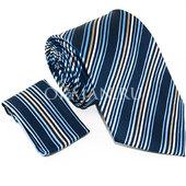 Комплект синего цвета: Галстук, Платок Mario Laube 1042