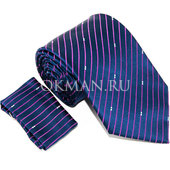 Комплект синего цвета: Галстук, Платок Mario Laube 1142