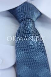 Голубой галстук для подростка с готовым узлом
