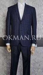 Мужской клетчатый пиджак коричнево-синий Barkland Ицар