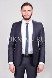 Зауженный костюм Slim Fit с укороченным пиджаком Иствик Timothy