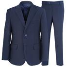 Синий прямой костюм STENSER К40Р-3