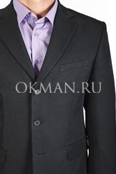 Костюм мужской черный с увеличенной полнотой KAIZER К100-3