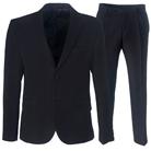 Черный приталенный костюм STENSER К10РА