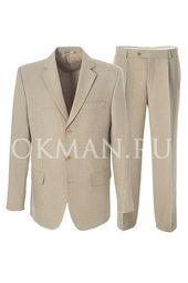 Классический костюм Kaizer К182 светло-серого цвета