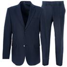 Синий приталенный костюм STENSER К29РА