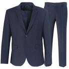 Темно-синий приталенный костюм STENSER К40РА