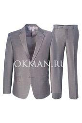 Классический полуприталенный костюм Kaizer К5104 светло-серого цвета