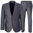 Серый прямой костюм STENSER К5109-3