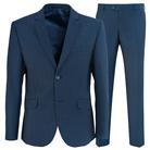 Синий приталенный костюм STENSER К5152