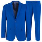 Синий приталенный костюм STENSER К5154