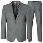 Серый приталенный костюм STENSER К5155
